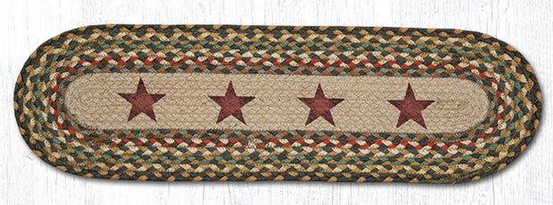 "Capitol Earth Rugs Gold Stars Jute Stair Tread, 8.5"" x 27"""