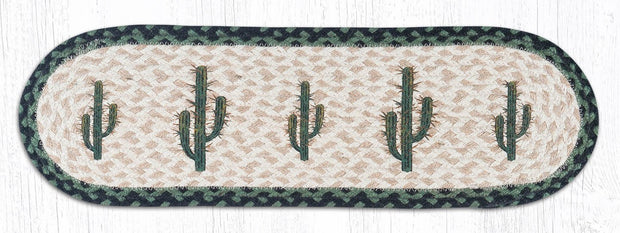 "Capitol Earth Rugs Saguaro Cactus Jute Stair Tread, 8.5"" x 27"" Oval"
