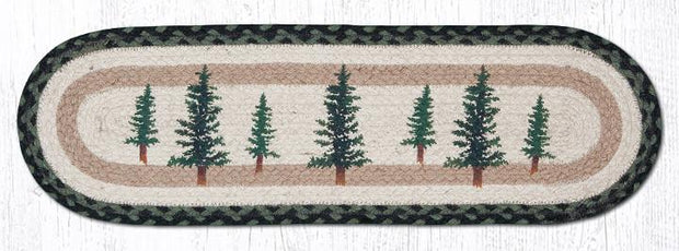"Capitol Earth Rugs Tall Timbers Jute Stair Tread, 8.5"" x 27"" Oval"