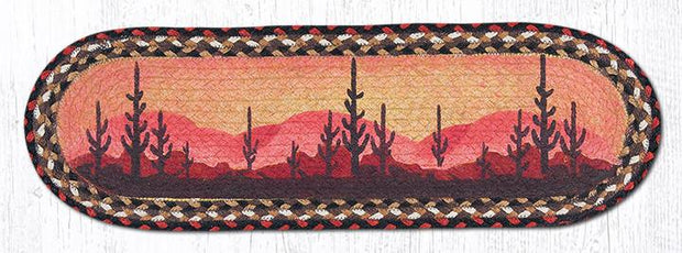 "Capitol Earth Rugs Desert Sunset Jute Stair Tread, 8.5"" x 27"" Oval"