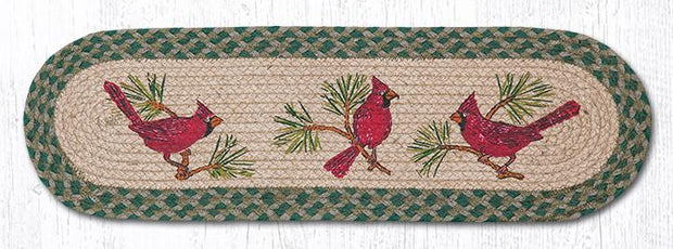 "Capitol Earth Rugs Cardinals Jute Stair Tread, 8.5"" x 27"" Oval"