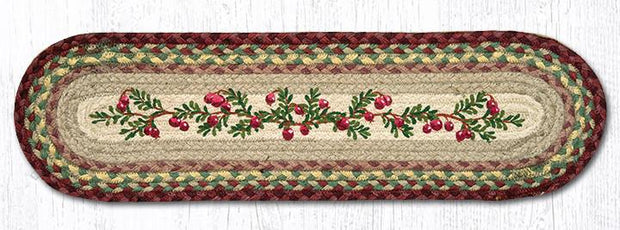 "Capitol Earth Rugs Cranberries Jute Stair Tread, 8.5"" x 27"" Oval"
