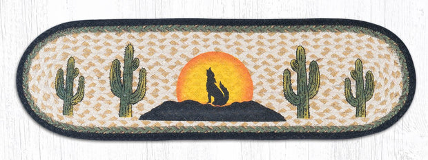 "Capitol Earth Rugs Coyote Silhouette Jute Stair Tread, 8.5"" x 27"" Oval"
