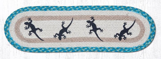 "Capitol Earth Rugs Gecko Jute Stair Tread, 8.5"" x 27"" Oval"