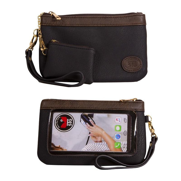 Save the Girls Catchy Clutch Touchscreen Purse, Raven Black
