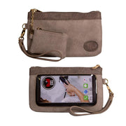 Save the Girls Catchy Clutch Touchscreen Purse, Latte Mist