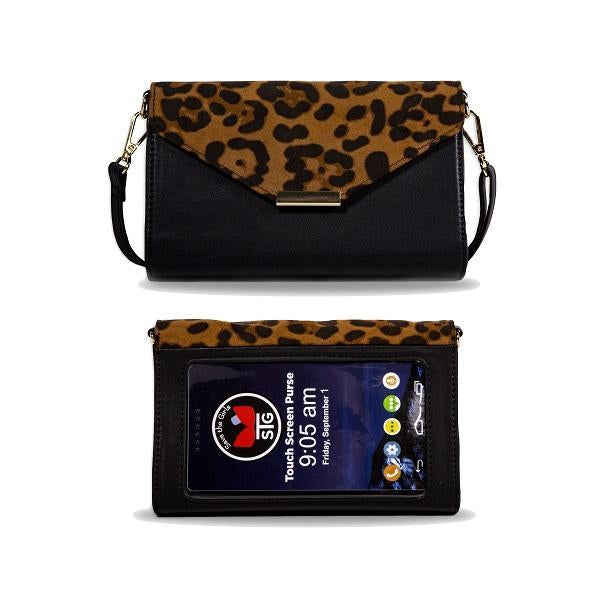 Save the Girls Timeless Touch Screen Purse, Leopard Brown
