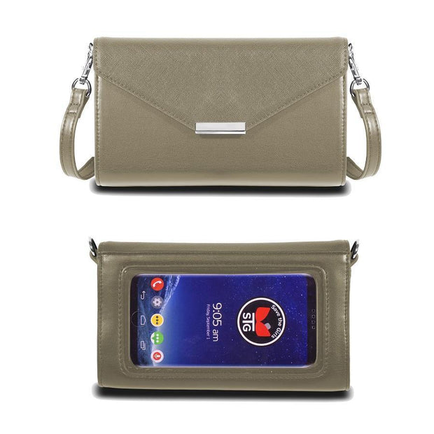 Save the Girls Timeless Touch Screen Purse, Warm Grey