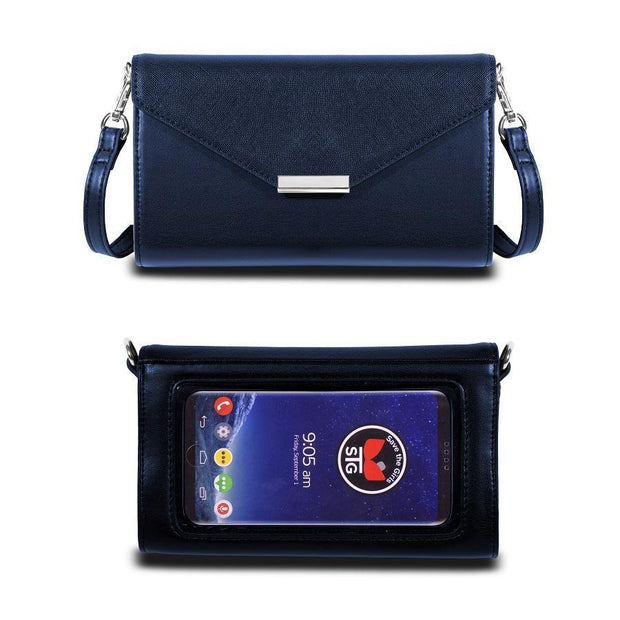 Save the Girls Timeless Touch Screen Purse, Navy Blue