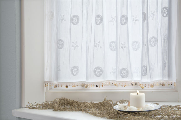 Heritage Lace Sand Dollar Curtain Collection - White