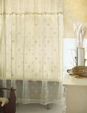 Heritage Lace Sand Shell Shower Curtain, set of 2 - Ecru