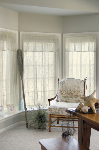 Heritage Lace Sand Shell Curtain Collection - Ecru