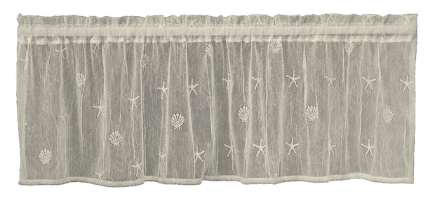 Heritage Lace Sand Shell Valance, set of 2 - Ecru