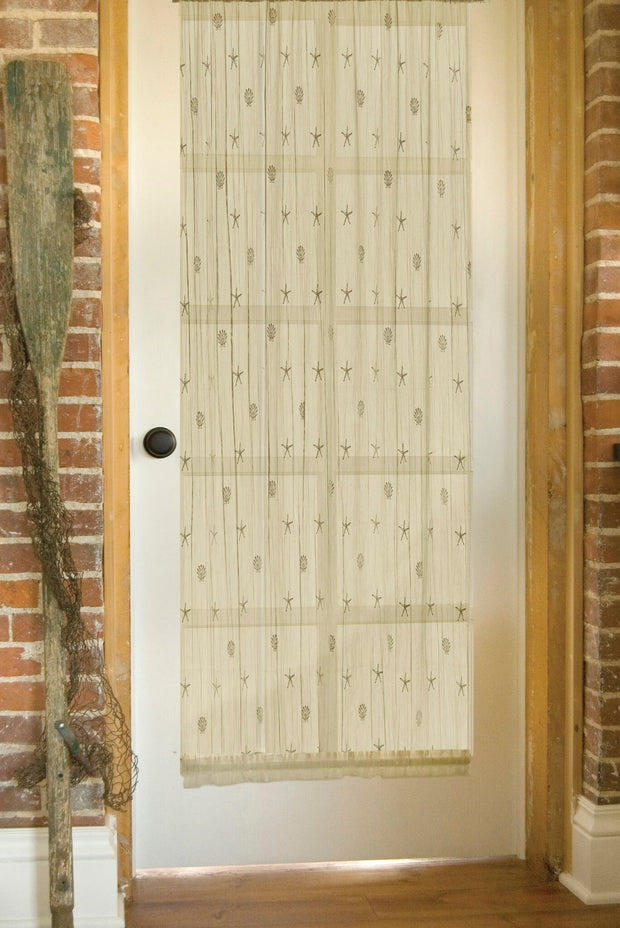 Heritage Lace Sand Shell Door Panel, set of 2 - Ecru