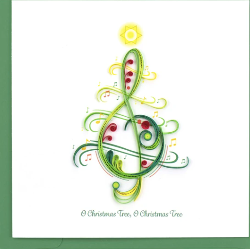 Christmas Song Quilling Card
