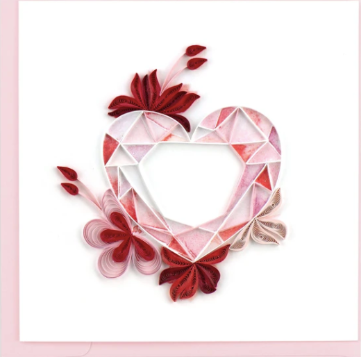 Gemstone Heart Quilling Card