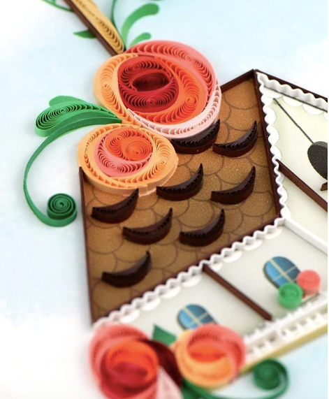 Birdhouse Quilling Card