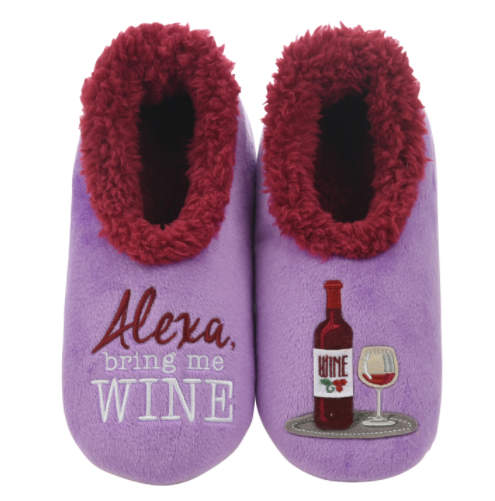 Alexa, Bring Me Wine Snoozies Slippers