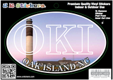 U-R Stickers Oak Island Lighthouse Car Magnet