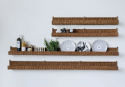 Creative Coop Rattan Wall Shelf