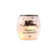 "Beloved Cat Lighted Glass Vase, 3"" x 3"" x 3"""