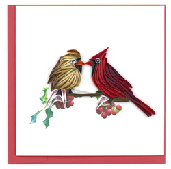Two Cardinals Quilling Card