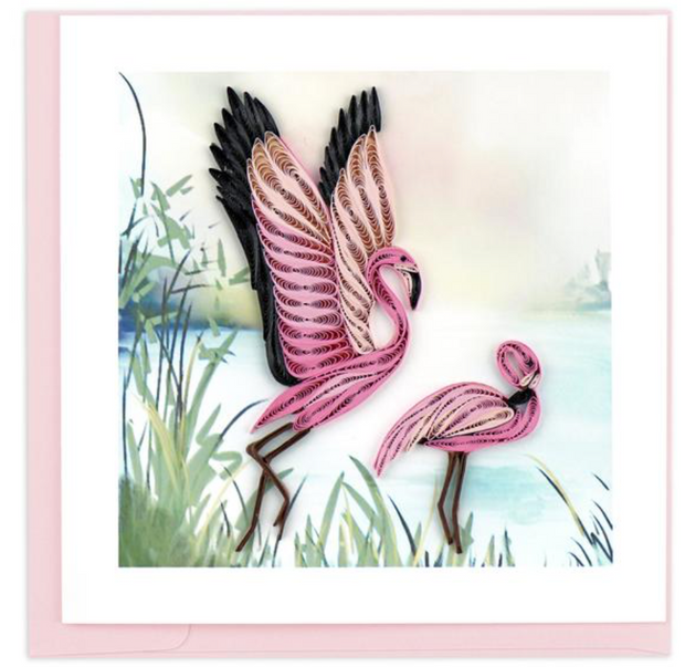 Flamingo Quilling Card