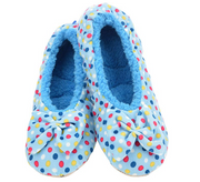Blue Dottie Ballerina Snoozies Slippers