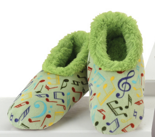 Musical Notes Snoozies Slippers