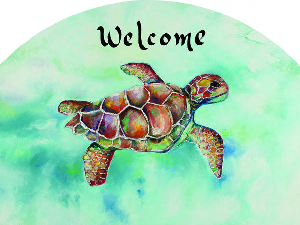 Sea Turtle Garden Sign