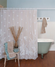 Heritage Lace Seascape Curtain Collection, White