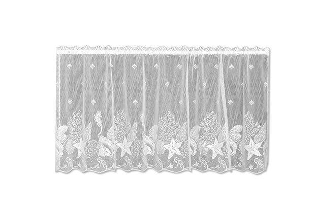 Heritage Lace Seascape Curtain Collection, White, Tier