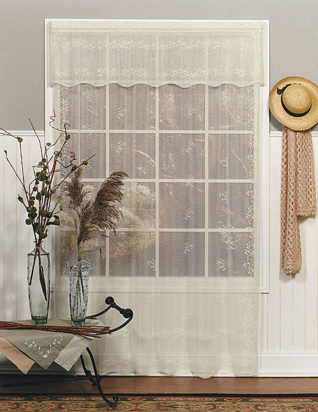 Heritage Lace Sheer Divine Curtain Collection, Ecru