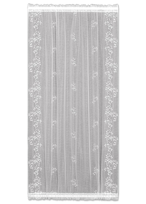 Heritage Lace Sheer Divine Door Panel, White