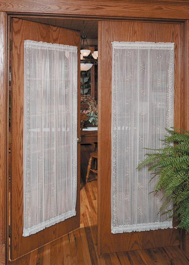 Heritage Lace Sheer Divine Door Panels, White