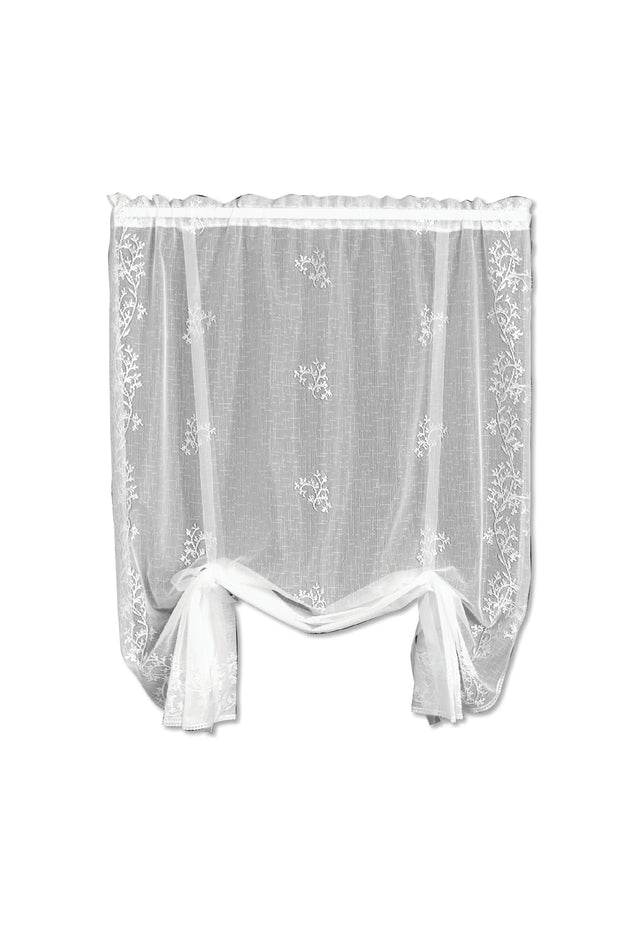Heritage Lace Sheer Divine Drape Shade, White
