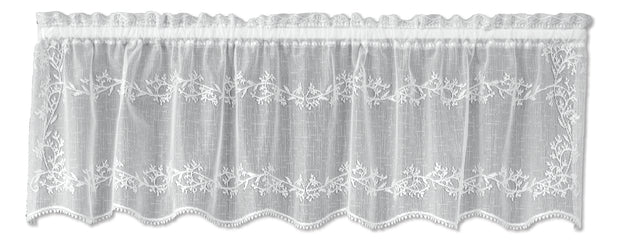 Heritage Lace Sheer Divine Valance, White