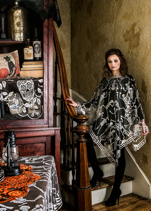 Heritage Lace Skeleton Dance Poncho