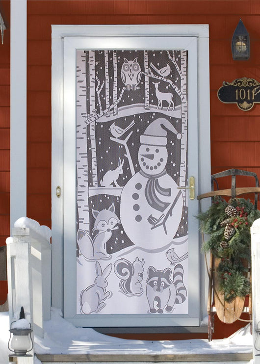 Heritage Lace Snowman Scenic Panel