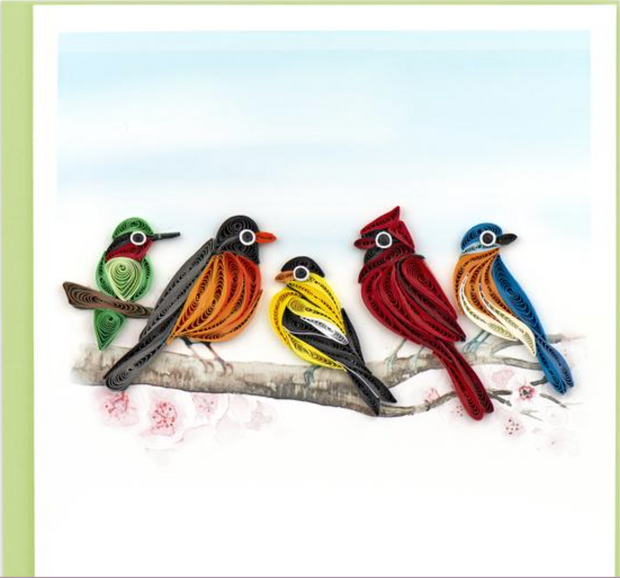 Song Birds Quilling Card