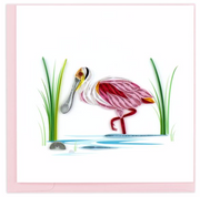 Spoonbill Quilling Card