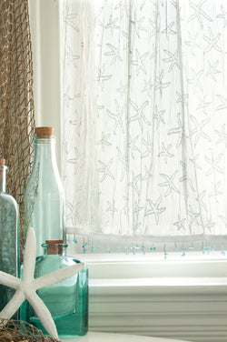 Heritage Lace Starfish Curtain Collection - White