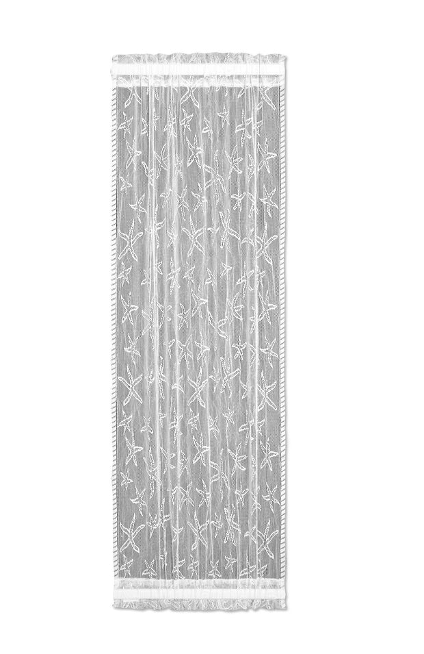 Heritage Lace Starfish Side Light Panel, White