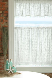 Heritage Lace Starfish Curtain Collection -White