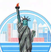 Statue of Liberty Quilling Card
