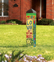 "Studio-M Love is All You Need 20"" Art Pole, The Lyric Project"