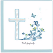 Sympathy Cross Quilling Card