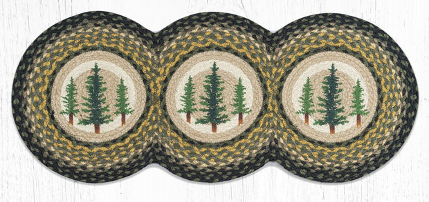 Tall Timbers Printed Jute Table Runner - Oval, Rectangle, & Tri-Circle