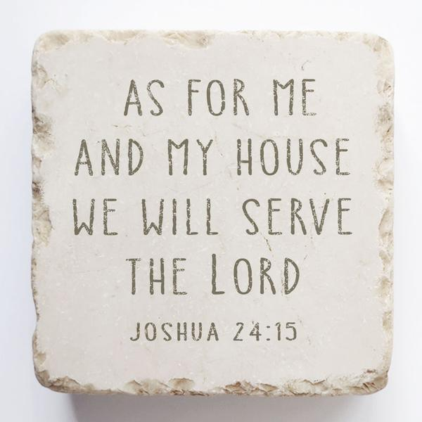 Joshua 24:15 Scripture Stone - Small Block