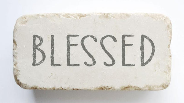 Blessed Scripture Stone - Half Block